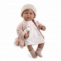 Мягкая кукла Elegance в розовой одежде (звук, смеется), 45 см Т11112