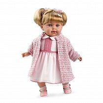 Мягкая кукла Elegance в розовой одежде, с соской (звук), 42 см Т11127